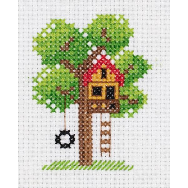 "DIY Klart counted cross stitch kit /""Honeymoon/"" 20x15cm"