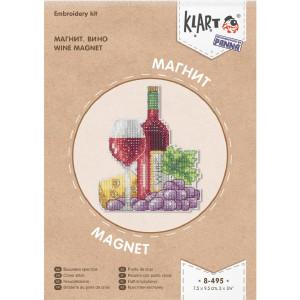 "Klart counted cross stitch kit ""Magnet. Wine"",..."