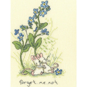 """Bothy Threads counted cross stitch kit """"Forget me..."""