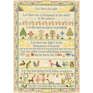 """Bothy Threads counted cross stitch kit """"Let There be..."""