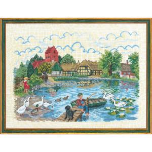 "Eva Rosenstand counted cross stitch kit ""Village..."
