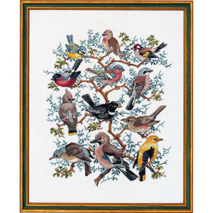 """Eva Rosenstand counted cross stitch kit """"Tree with..."""
