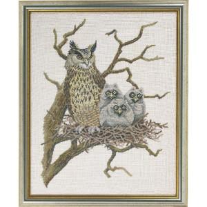 "Eva Rosenstand counted cross stitch kit ""Owl"",..."
