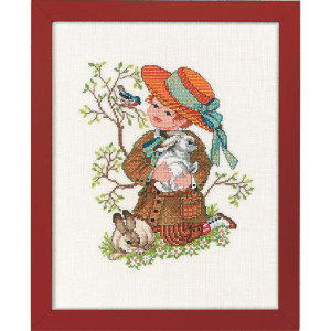 """Eva Rosenstand counted cross stitch kit """"Boy with..."""