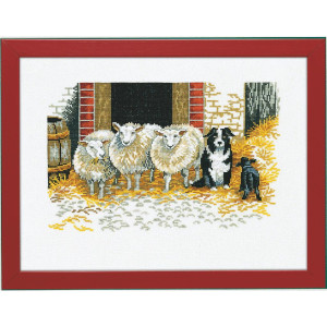 """Eva Rosenstand counted cross stitch kit """"Sheep and..."""