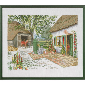 "Eva Rosenstand counted cross stitch kit ""Farm and..."