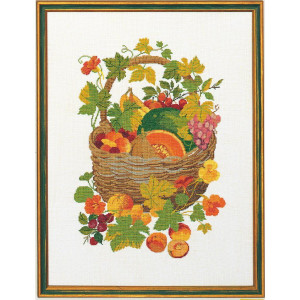 """Eva Rosenstand counted cross stitch kit """"Basket with..."""
