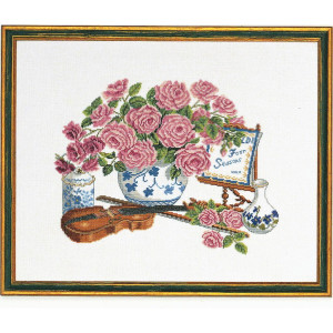 """Eva Rosenstand counted cross stitch kit """"Roses and..."""