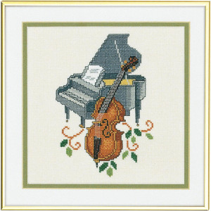 """Eva Rosenstand counted cross stitch kit """"Piano and..."""