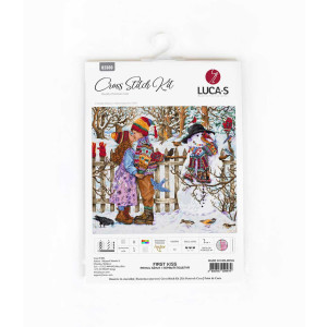 """Luca-S counted cross stitch kit """"First Kiss"""",..."""