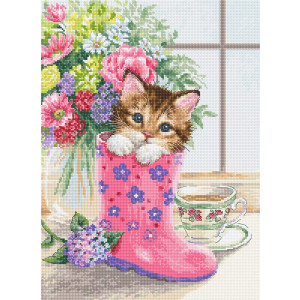"""Luca-S counted cross stitch kit """"Pretty..."""