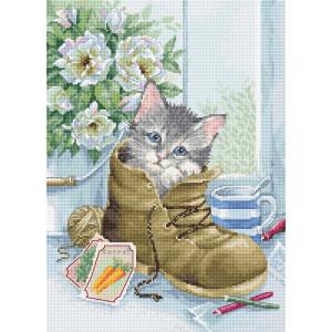 "Luca-S counted cross stitch kit ""Cute Kitten"",..."