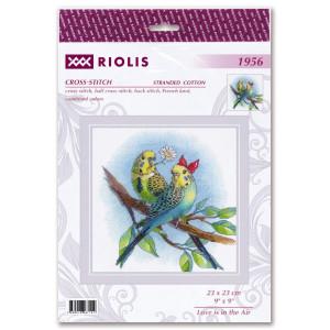 """Riolis Kreuzstich Set """"Liebe ist in der Luft"""",..."""