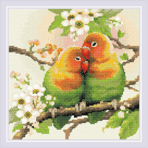"Riolis Diamanten Malerei  ""Lovebirds"", 30x30cm"