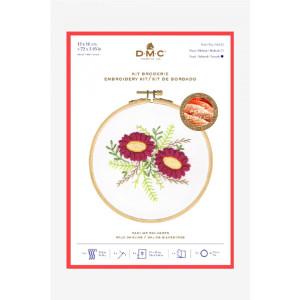 DMC Stickset Wilde Dahlien mit Stickrahmen, vorbedruckt
