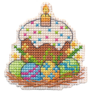 """Oven counted cross stitch kit """"Magnet. Easter"""",..."""