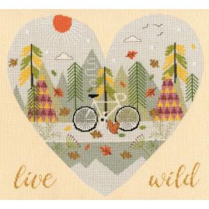 """Bothy Threads Kreuzstich Set """"Wild at Heart:..."""
