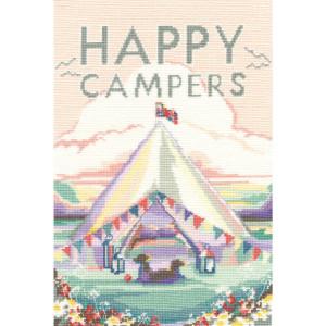 "Bothy Threads Kreuzstich Set ""Vintage-Camping"",..."