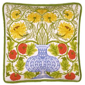 """Bothy Threads Gobelin-Stickkissen Set """"Vase mit..."""