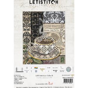 """Letistitch Kreuzstich Set """"Löwenkaffee B""""..."""
