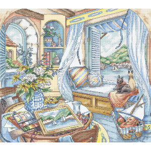 """Letistitch counted cross stitch kit """"Window..."""