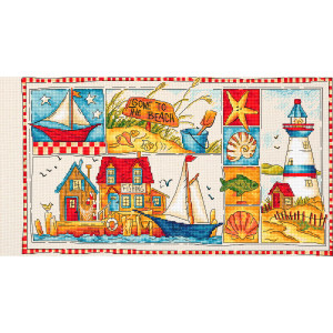 """Letistitch counted cross stitch kit """"Gone to the..."""