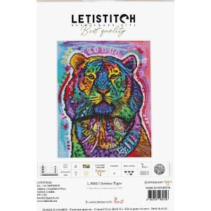 """Letistitch Kreuzstich Set """"Neugieriger Tiger""""..."""