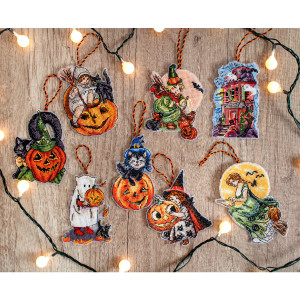 """Letistitch counted cross stitch kit """"Halloween toys..."""