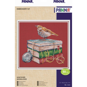 """Panna counted cross stitch kit """"Booklover (red..."""