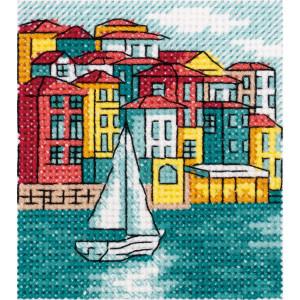 "Klart counted cross stitch kit ""Seafront"",..."