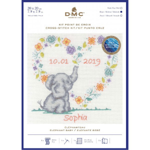 "DMC counted cross stitch kit ""Elephant Baby"",..."