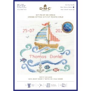 "DMC counted cross stitch kit ""Sail Boat Baby"",..."