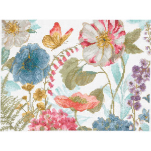 "DMC counted cross stitch kit ""Rainbow Seeds Flowers..."