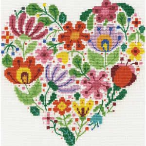 """DMC counted cross stitch kit """"Bouquet of Love"""",..."""