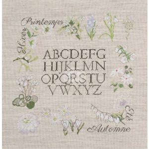 "DMC counted cross stitch kit ""Botanic ABC"",..."