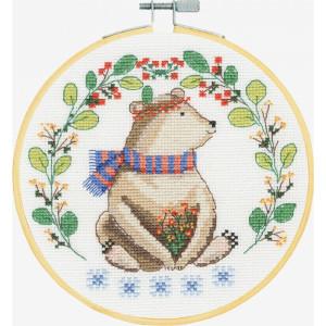 "DMC counted cross stitch kit with hoop ""Folk..."