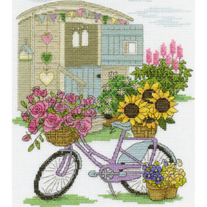 """DMC counted cross stitch kit """"Flowery Bicycle"""",..."""