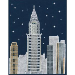"DMC Kreuzstich Set ""New York bei Nacht""..."