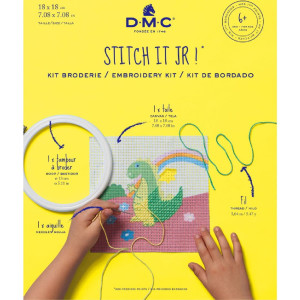 DMC stamped half stitch kit with plastic hoop...