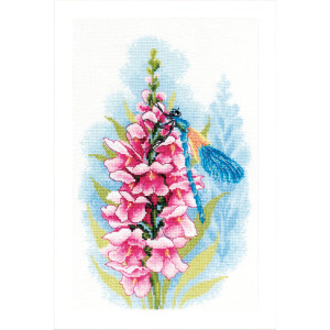 """Lanarte counted cross stitch kit """"Dragonfly´s..."""