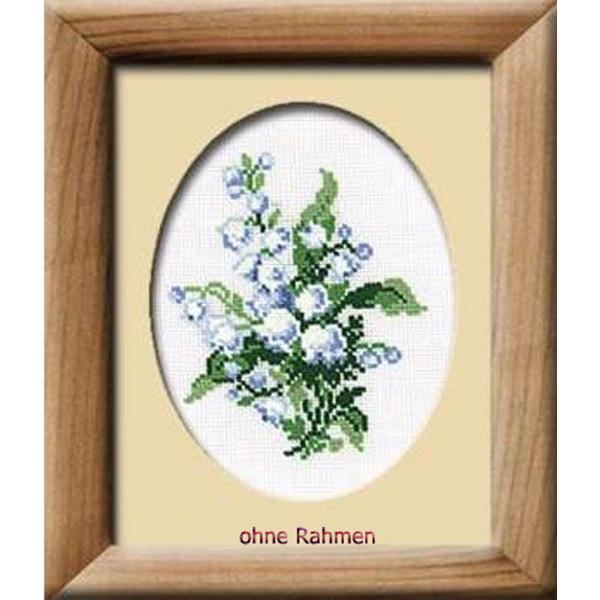 Riolis Stickbild-Set, Motiv Lily of the Valley (Lilien), Zählmuster