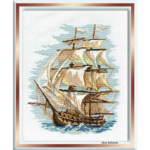Riolis counted cross stitch Kit Ship, DIY