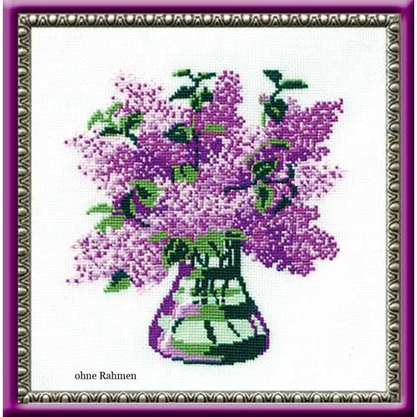 Riolis counted cross stitch Kit Bunch of Lilacs, DIY