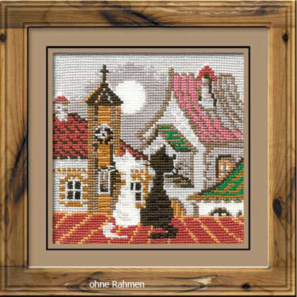 Riolis counted cross stitch Kit City & Cats Spring, DIY