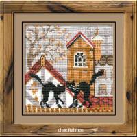 Riolis counted cross stitch Kit City & Cats Autumn, DIY