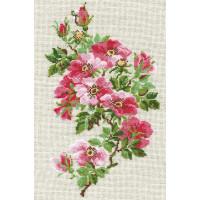 Riolis counted cross stitch Kit May Wild Rose, DIY