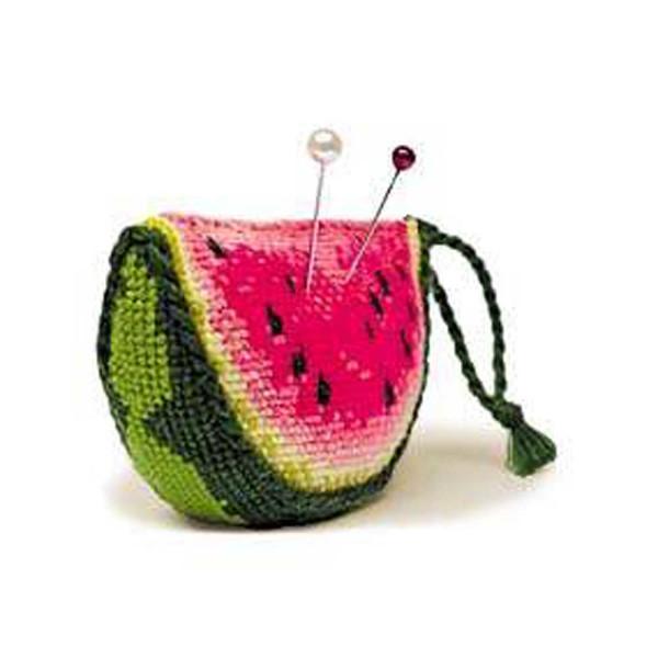 Riolis counted cross stitch Kit Watermelon Pincushion, DIY