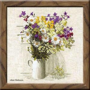 Riolis counted cross stitch Kit Wildflowers, DIY