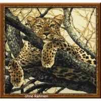 Riolis counted cross stitch Kit Leopard, DIY