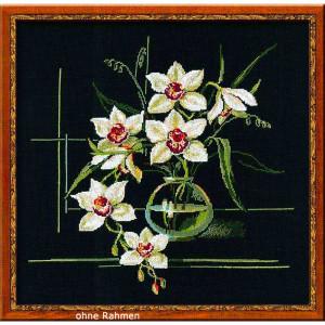 """Riolis Kreuzstich-Set """"Weiße Orchidee"""",..."""